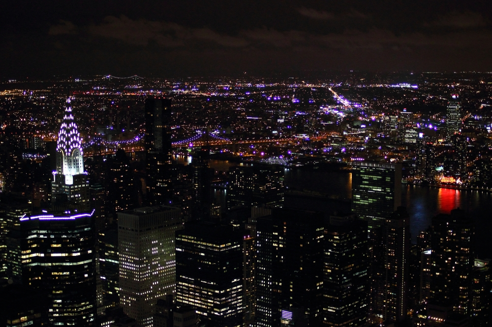 New York   in the dark